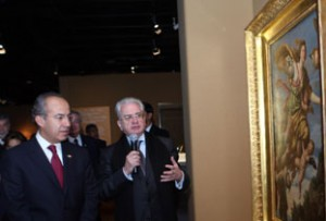 President Calderón Inaugurates Exhibition on: Czars, Art and Culture in the Russian Empire Collections from the Ermitage State Museum at the National Museum of Anthropology