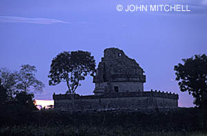 El Caracol, a Maya astronomical observatory at Chichen Itza. Click on photo for more information.