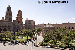 The Plaza de Armas in San Luis Potosi