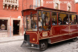 Sightseeing Trolley Bus in San Miguel de Allende