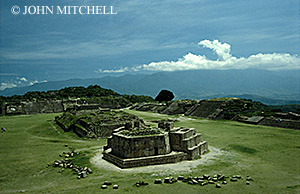 The ruins at Monte Alban, Oaxaca