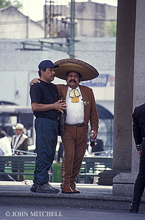 Mariachi and amigo in Mexico City