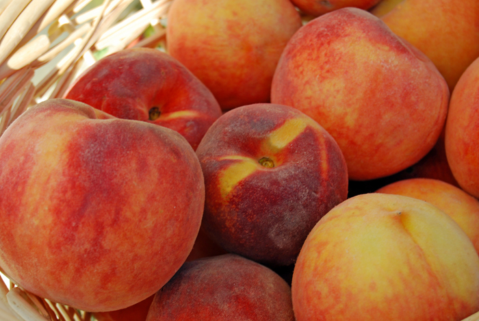 Fresh peaches, in season now.